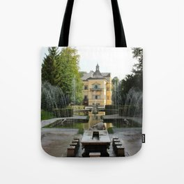 Hellbrunn Trick Fountains, Austria Tote Bag