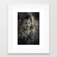 castiel Framed Art Prints featuring Castiel by Sirenphotos