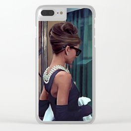 Audrey Hepburn #2 @ Breakfast at Tiffany's Clear iPhone Case