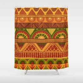 African Ethno Pattern Shower Curtain