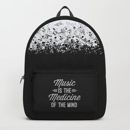 Music Medicine Mind Quote Backpack