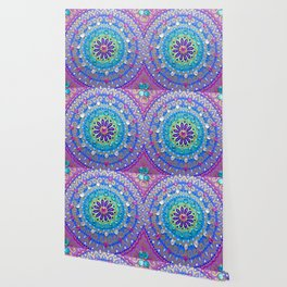 Pretty Glittery Jewelled Mandala Wallpaper