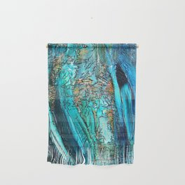 Doodle in blue Wall Hanging