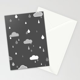 Grey Rains Stationery Cards