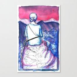 Tati at Machu Picchu Canvas Print