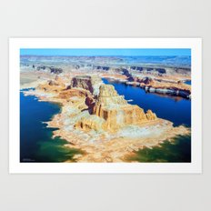 Soaring Over Turquoise and Sandstone Art Print