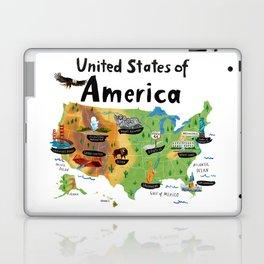 Map of USA Laptop & iPad Skin