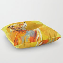 Blissful Light - Fox portrait Floor Pillow