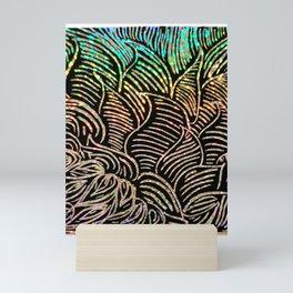 Scratch art 3/Leaves from MyMargins Mini Art Print