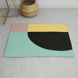 Geometric Shapes Abstract Rug