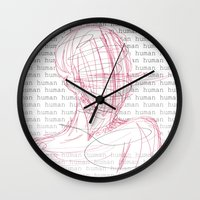 human Wall Clocks featuring HUMAN by nathan wellman