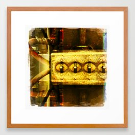 switch board Framed Art Print