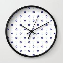 Menorah 20 Wall Clock