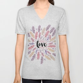Love Love Love Unisex V-Neck