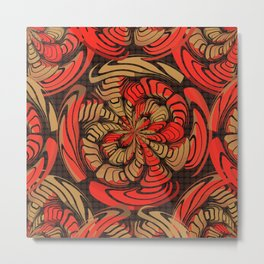 Decorative red and brown Metal Print