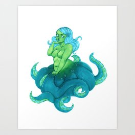 Octobabe Art Print