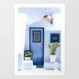 Doors of Santorini Art Print