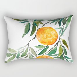 orange watercolor Rectangular Pillow