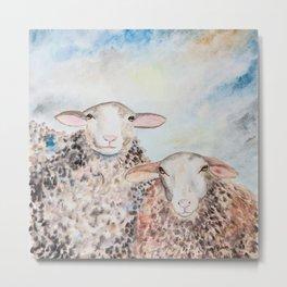 Couple of Sheep Metal Print