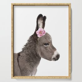 flower donkey Serving Tray
