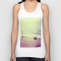 santa monica Tank Tops featuring Santa Monica Boardwalk by Alissa Huff