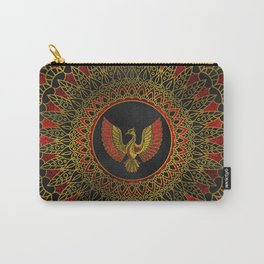 Gold and red Decorated Phoenix bird symbol Carry-All Pouch