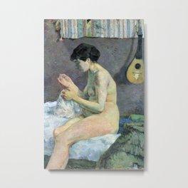Paul Gauguin - Woman Sewing Metal Print