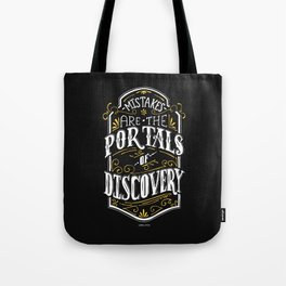 Lab No. 4 - Mistakes are the portals of discovery - James Joyce Corporate Startup Quotes Poster Tote Bag