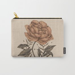 Peony and Ferns Carry-All Pouch