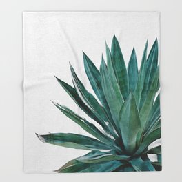 Agave Cactus Throw Blanket