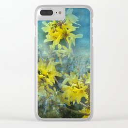 Dramatic Forsythia Clear iPhone Case