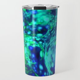 green bubbles abstract Travel Mug