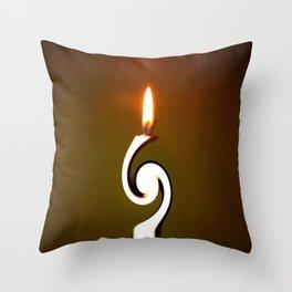 CANDLE LIGHT Throw Pillow