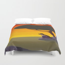 Psyche on a Cliff Duvet Cover