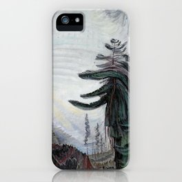 Emily Carr - Fir Tree and Sky - Canada, Canadian Oil Painting - Group of Seven iPhone Case