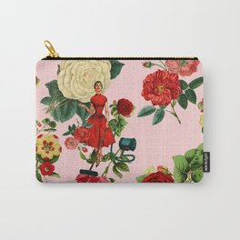 Keep it clean floral collage pink Carry-All Pouch