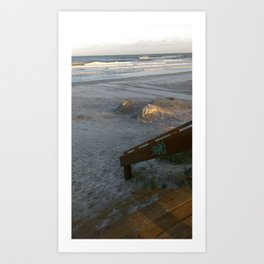The Feel of Cold Sand Art Print