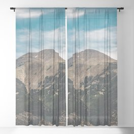 Mountain Adventure Colorado Rocky Adventure II - Nature Photography Sheer Curtain