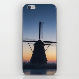 Windmills at Sunrise IV iPhone Skin