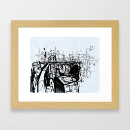 City Study Framed Art Print