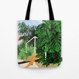Hiding in Green #painting #illustration Tote Bag