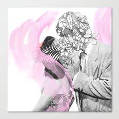 A kiss is a kiss Canvas Print