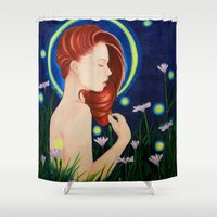 firefly Shower Curtains featuring Firefly  by A.LynnArt
