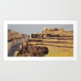 fields in the gold Art Print