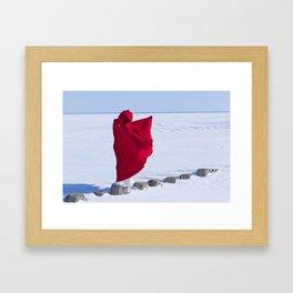 Santa girl Framed Art Print