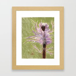 The Thistle Ballerina Framed Art Print