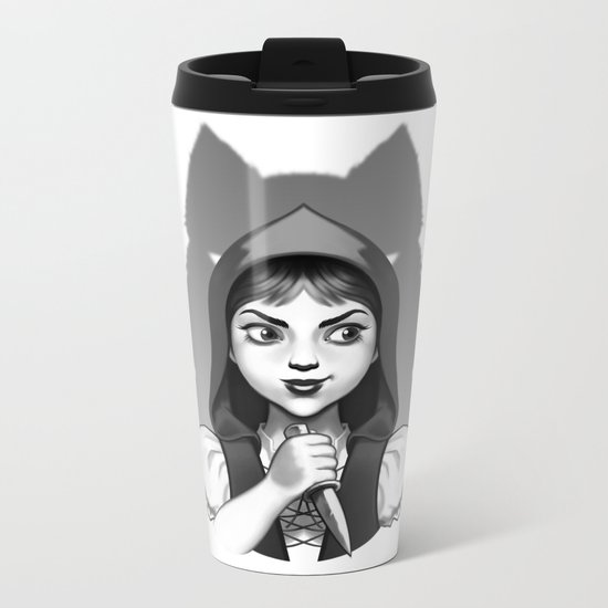 Little Red Riding Hood's Surprise Metal Travel Mug