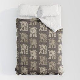 Mid Century Horse Pattern Neutral Comforters
