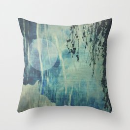 dreaming under the birch Throw Pillow