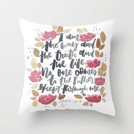 John 14:6 Throw Pillow